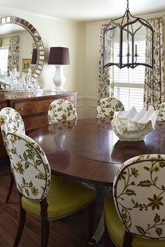 Delightful dining room by Tobi Fairley