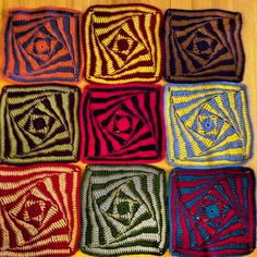 Ravelry: Project Gallery for On the Huh Crochet Square pattern by Jacqui Goulbourn