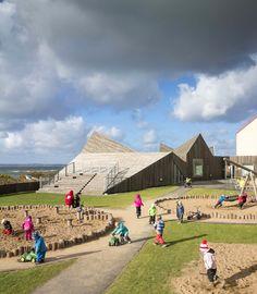 Современный детский сад, детский сад фото, детский сад на пляже в швеции, игровая зона для детей, tutastan.com