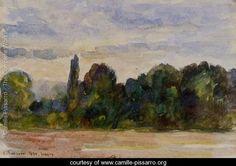 Trees, Eragny - Camille Pissarro - www.camille-pissarro.org
