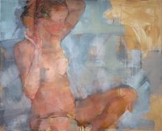 "Saatchi Art Artist Fanny Nushka; Painting, ""Julia Nude (SOLD)"" #art"