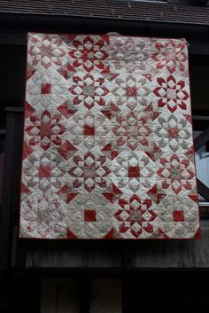 Fireworks pattern (Thimble Blossoms) - red, white and grey look good together.