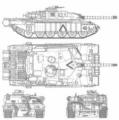 Leopard 2 blueprint main battle tank pinterest leopards mbt challenger 1 mk iii malvernweather Choice Image
