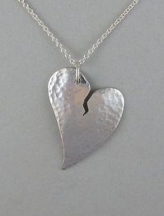 Sterling Broken Heart Pendant $75.00 #valentine #jewelry
