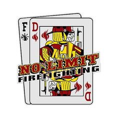 Don't be left holding the cards! Proudly display this No Limit Playing Cards Decal on your helmet or vehicle today!   #TheFireStore