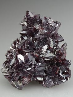 PROUSTITE - The Proustite crystals have a stunning maroon red colour, with pleasing flashes of bright red. A very fine specimen of Proustite from the area. Chile-