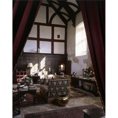 The great hall at Cothay Manor. Beautiful Interiors, Tudor, Old Houses, Palaces, Brown Sugar, Castles, English, Live, Design