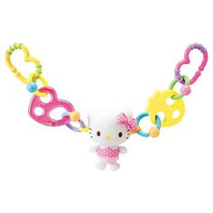 This toy can be attached to most strollers or baby carriers to provide your baby with entertainment that will help to develop certain life skills. Hello Kitty Baby, Infant Activities, Baby Cats, Sanrio, Car Seats, Whimsical, Baby Carriers, Entertaining, Strollers
