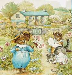 Illustration by Helen Beatrix Potter,..She is someone I would've loved to have met