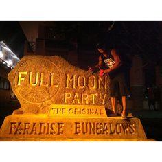 Full Moon Party ad in Koh Phangan Island, Thailand.