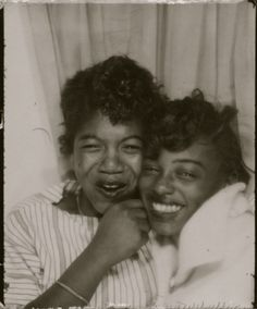 two girls in a photobooth...cuties