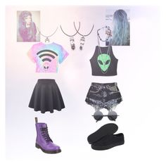 """""""Untitled #126"""" by rockinchic1101 ❤ liked on Polyvore featuring LE3NO, Streets Ahead, Vans, Retrò and Dr. Martens"""