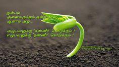 துன்பம்  அனைவருக்கும் ஒன்று தான்,  ஆனால் அது...  அழுபவனுக்கு 'கண்ணீர்' கொடுக்கும் ! எழுபவனுக்கு 'தண்ணீர்' கொடுக்கும் ! http://tamilnanbargal.com