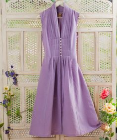 Take a look at this Lavender Roxanne Dress on zulily today!