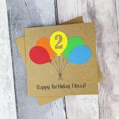Handmade 2nd birthday card Personalised birthday card with | Etsy Happy Birthday Godson, Happy Birthday Olivia, Birthday Card With Name, Son Birthday Quotes, Happy Birthday Images, Happy Birthday Cards, 2nd Birthday, Special Birthday, Birthday Greetings