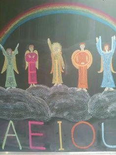 Afbeeldingsresultaat voor Waldorf class one chalkboard drawings Waldorf Preschool, Waldorf Math, Waldorf Curriculum, Waldorf Kindergarten, Waldorf Crafts, Waldorf Education, Homeschool Kindergarten, Physical Education, Homeschooling