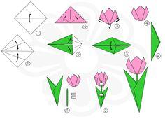 tulipan origami paso a paso