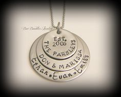 Hand Stamped Jewelry Personalized by BeeBaublesJewelry on Etsy, $26.00