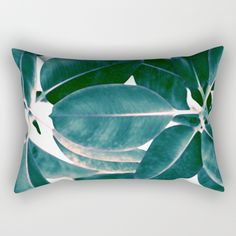 Tropical abstract(7). Rectangular Pillow by Mary Berg. Worldwide shipping available at Society6.com. Just one of millions of high quality products available. #pillows #society6 #abstract #contemporary #green #emerald #homedesign #throwpillow #sofa #salon #decorative #maryberg #monochrom  #purple