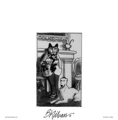 Today on Kliban's Cats - Comics by B. Grey Cats, White Cats, Kliban Cat, Cat Comics, Here Kitty Kitty, Calvin And Hobbes, Political Cartoons, Vintage Postcards, Cat Art