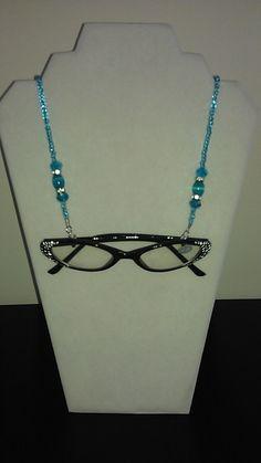 Buy Now Aqua Beaded Eyeglass Chain/ by BeadedEyeglassChain on Etsy, $14.00 Beaded Lanyards, Eyeglass Holder, Beaded Jewelry, Unique Jewelry, Crystal Bracelets, Photo Jewelry, Jewelry Crafts, Eyeglasses, Jewelery