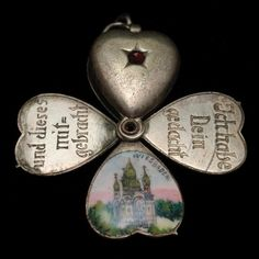 Antique Wiesbaden Heart Charm Germany