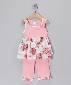 Take a look at this Pink Spring Bouquet Tunic & Ruffle Leggings - Infant & Toddler by Baby Nay on #zulily today!