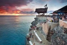 Rick's Cafe famous for their beautifull sunsets.   Negril, Jamaica