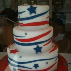 Born on the Fourth of July Cory Kennedy, America Cake, July 4th Holiday, Fourth Of July Cakes, Adult Birthday Cakes, Blue Cakes, Specialty Cakes, Cake Creations, Cupcake Cookies