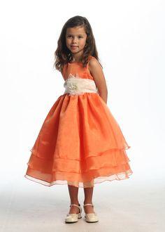 Orange Ideal Flower Girl Dress
