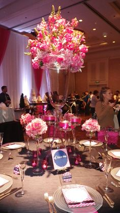 Table setting for wedding reception