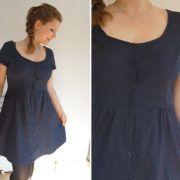 """Kleid """"Tuva"""" genäht von Kostbar und geliebt Cotton Textile, Flannel, Chic, Linen Fabric, Sewing Patterns"""