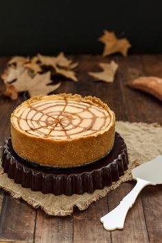 """Cheesecake de boniato """"araña"""" para Halloween"""