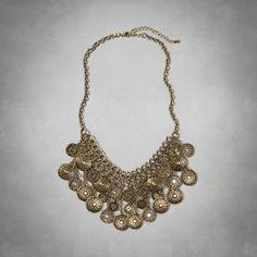 Coin Collar Necklace A&F