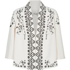 Temperley London Lettie Kimono Jacket (€1.050) found on Polyvore featuring women's fashion, outerwear, jackets, tops, shawl collar jacket, lightweight jacket, kimono jackets, temperley london and light weight jacket