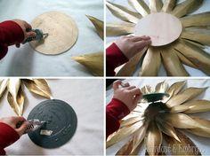 Cómo hacer su propio Vintage-esque Starburst Mirror {Aserrín y embriones}