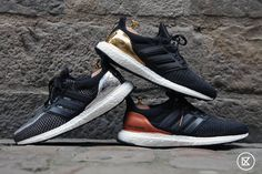 To celebrate the Rio 2016 Olympic Games, Adidas presents the UltraBoost trio inspired by the gold, silver and bronze