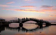 Footbridge on the island of Lefkada, Greece