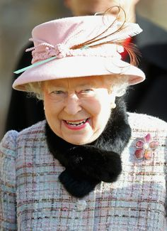 .Posted on February 2, 2014 by HatQueen.....Queen Elizabeth was all smiles this morning while attending church at West Newton in King's Lynn with the Duke of Edinburgh. .