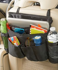 High Road SwingAway™ Driver Organizer - handy auto accessory - perfect for stowing driving essentials like maps, pens, pencils, books, snacks and more.