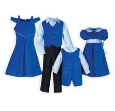 4fd86965ec8 Simply Sapphire Matching Brother Sister Outfits Girls Holiday Dresses