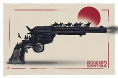 Alternative poster for Red Dead Redemption 2 video games by Rockstar Games ! - Video Games - Ideas of Video Games - Alternative poster for Red Dead Redemption 2 video games by Rockstar Games ! Video Game Art, Video Games, Western Tattoos, Cowboy Tattoos, Red Dead Redemption 1, Read Dead, West Art, Cowboy Art, Rockstar Games