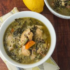 Quinoa adds even more protein to the dish, making it a soup that will fill any eater. This freezes great, make up a big batch and save for a quick meal. www.thislifefitness.com