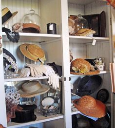 Easter bonnets at Primrose Antiques & Fancy Goods
