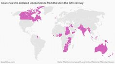 It's Not You, It's Me - All of the declarations of independence from the UK in the last century, mapped and charted.