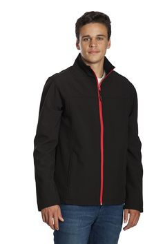Stoke Jacket SOFTSHELL 2 layers bonded fabric Outer-layer: 100D Polyester 4 way elastic Inner-layer, Water Resistant Colours - Black/Black, Black/Red, Black/Charcoal