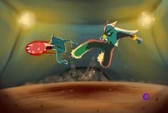 Ready... Fight! by RoniBro.deviantart.com on @deviantART (Blaziken vs. Hitmonlee)
