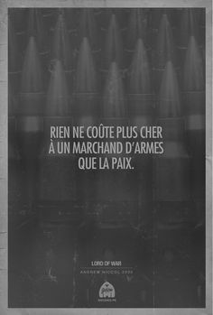 Citaffiches Lord Of War | Golem3-2 #cinema #ovie #quote