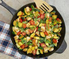 Garlic Margherita Chicken & Zucchini