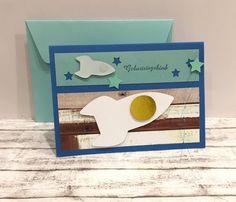 Glückwunschkarten - Kindergeburtstagskarte mit RAKETEN - ein Designerstück von POMMPLA bei DaWanda